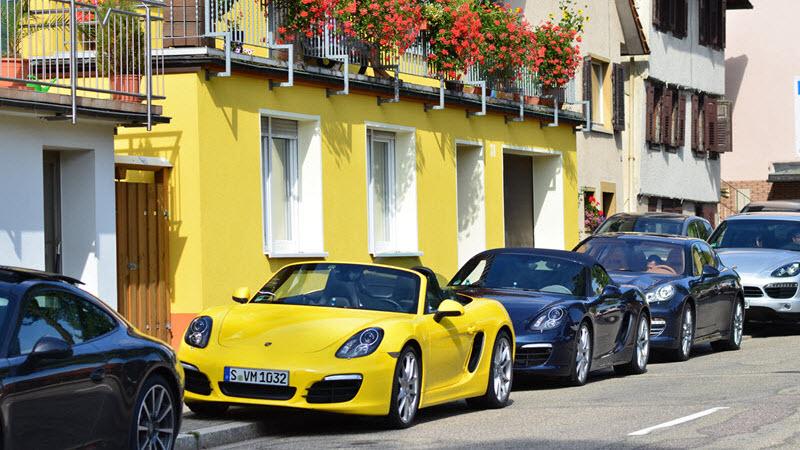 Yellow Porsche Car