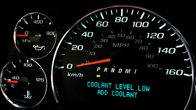 Jaguar Coolant Level Low
